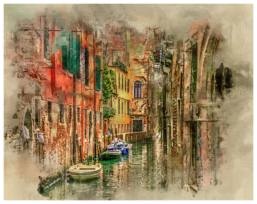 Venice Digital Art - Impressions Of Venice by Brian Tarr
