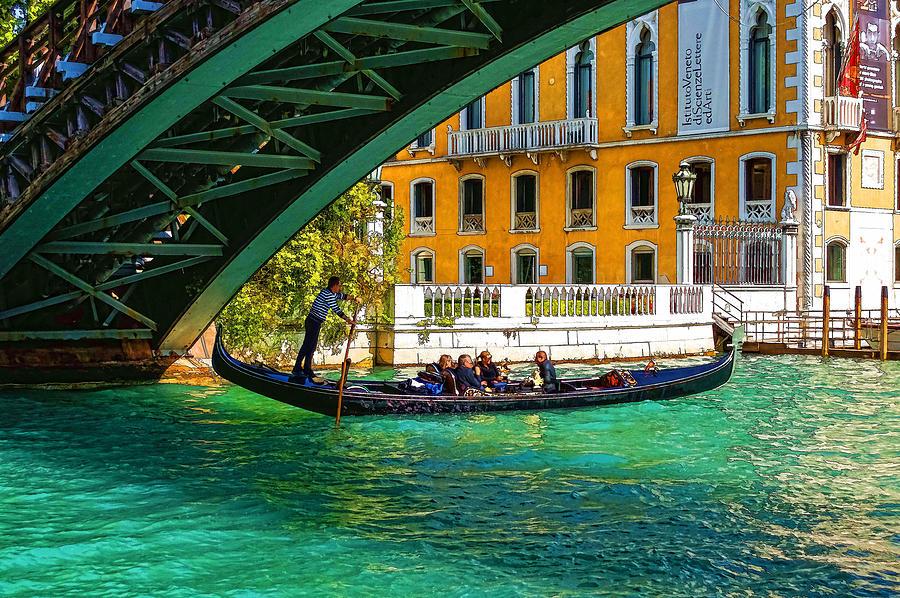 Impressions of Venice - Ponte dell Accademia Turquoise  by Georgia Mizuleva