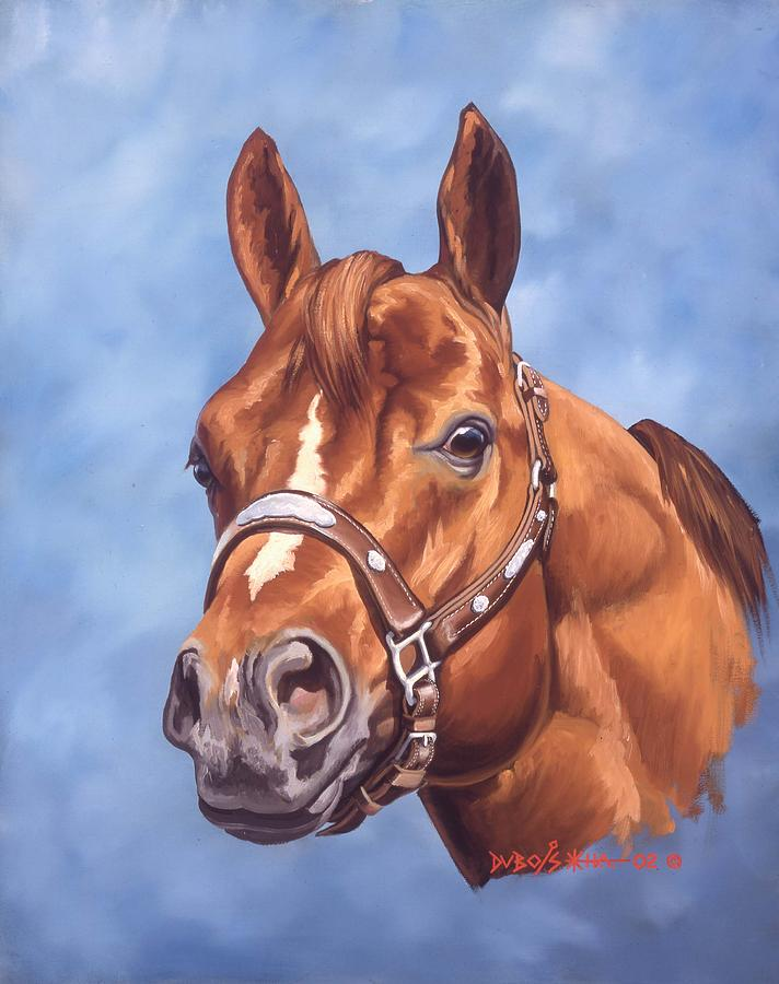 Quarter Horse Painting - Impressive by Howard Dubois