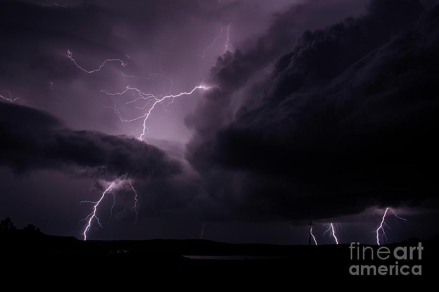 Lightning Photograph - Impressive Lightning  by Francis Lavigne-Theriault