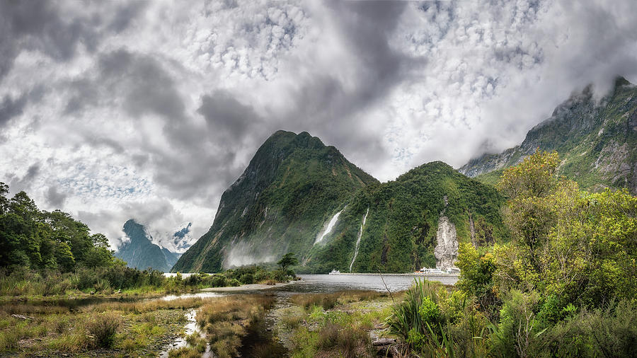 Colorful Photograph - Impressive Weather Conditions At Milford Sound by Daniela Constantinescu