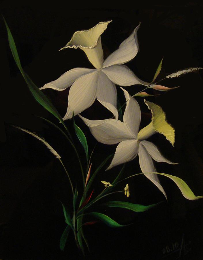 White Painting - Improvisation Narcis by Venyamin Astashov