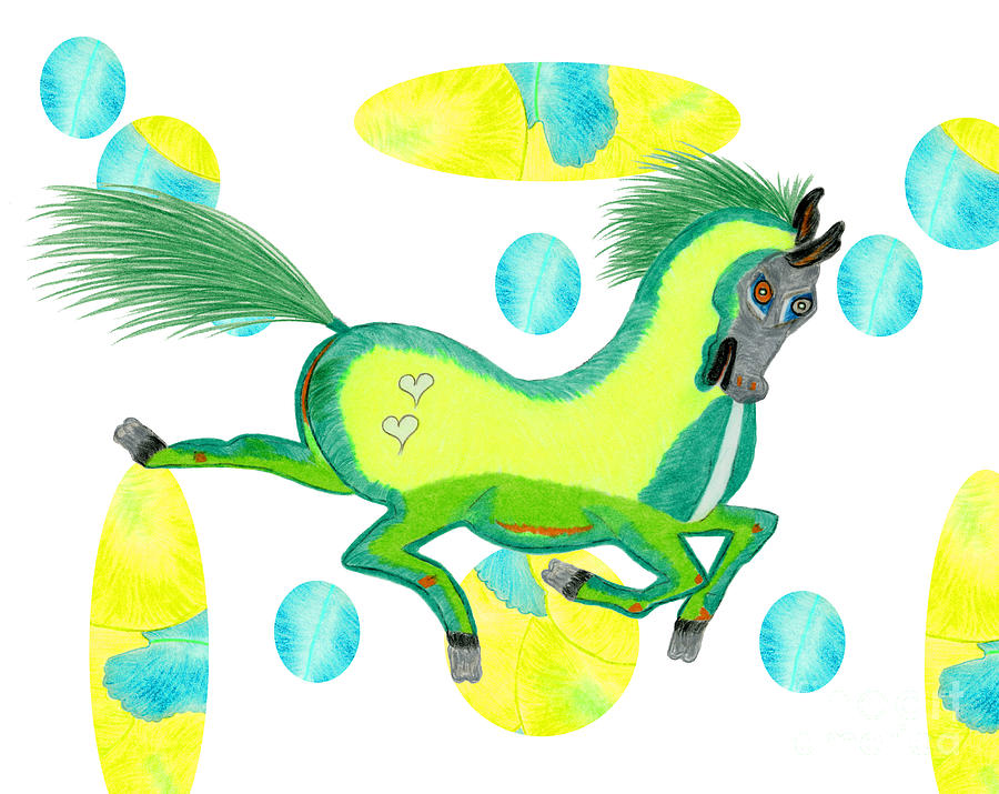 Horse Painting - Imu  by Tess M J Iroldi