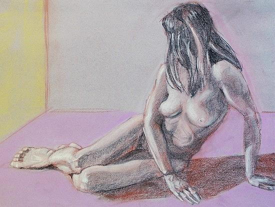 Figure Study Painting - In A Corner by Charles Peck