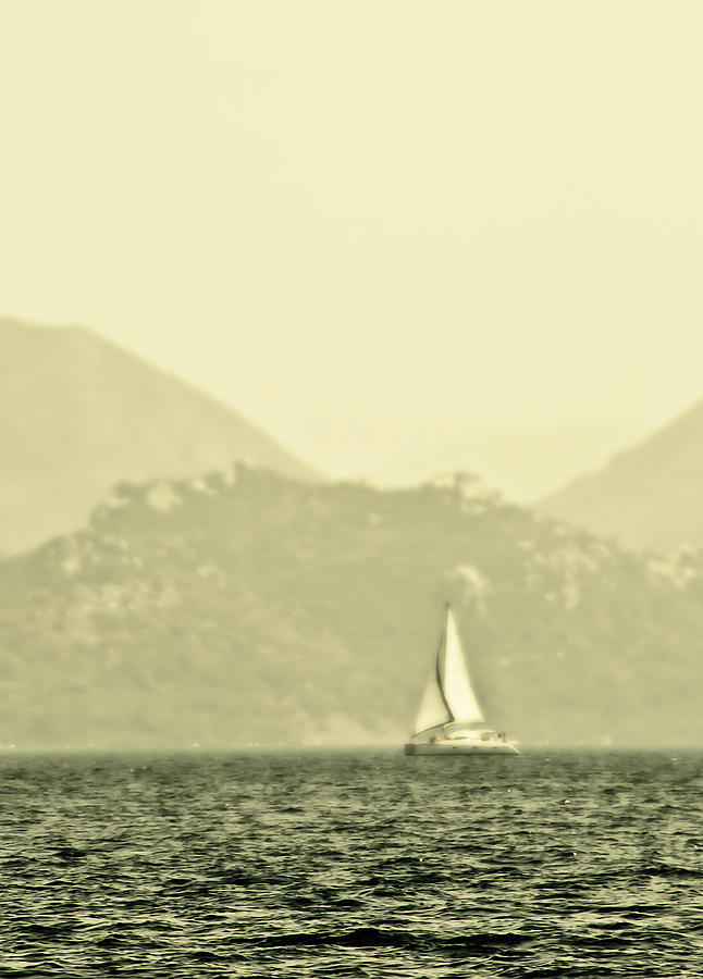 Boat Photograph - In A Distance by Svetlana Sewell