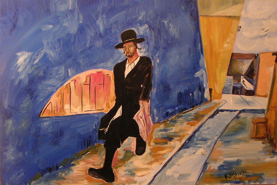 Israel Painting - In A Hurry by Marwan  Khayat