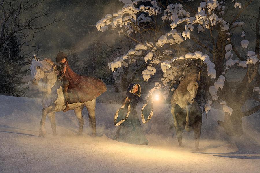 Horse Digital Art - In A Land Far Far Away by Betsy Knapp