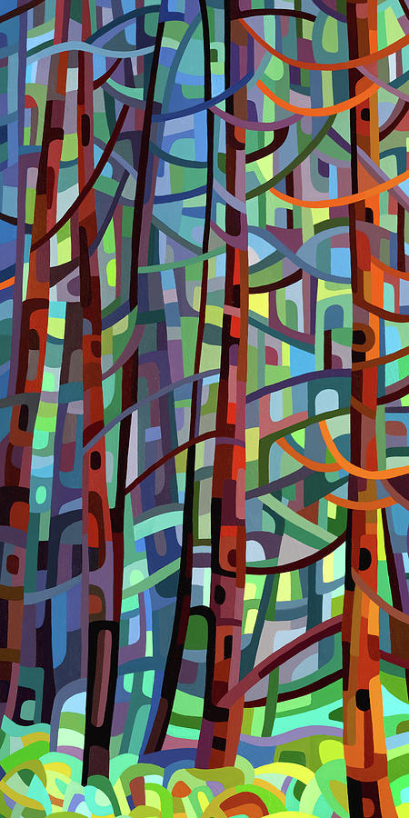 In A Pine Forest - Crop Painting by Mandy Budan