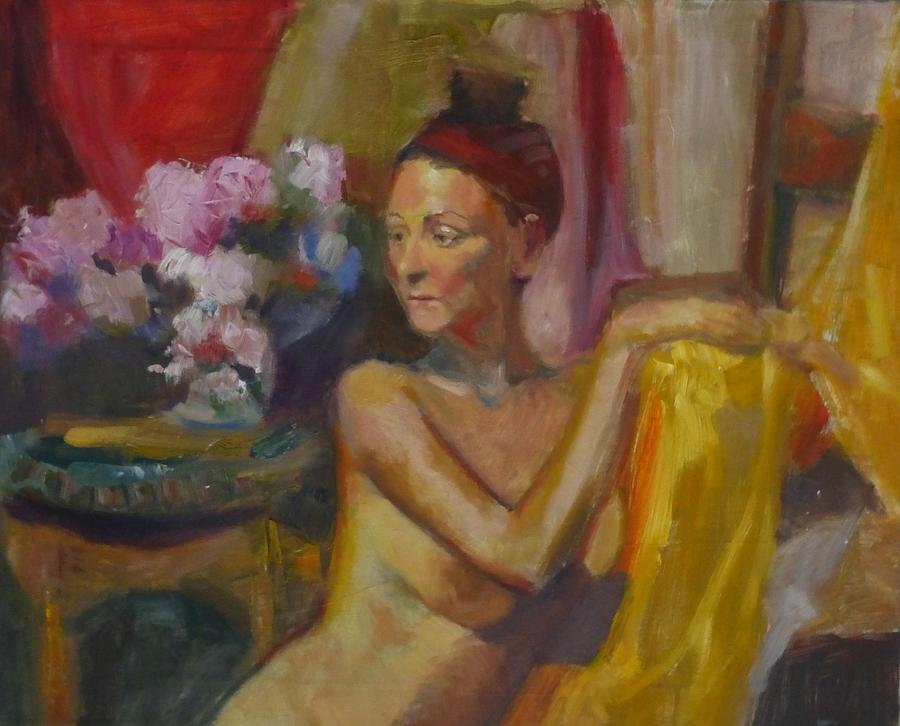 Woman Painting - In Amsterdam by Irena Jablonski