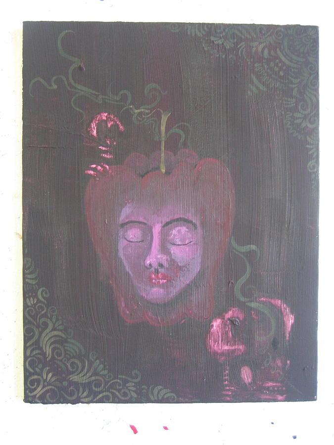 Apple Painting - In An Apple by Lehua Ehukai