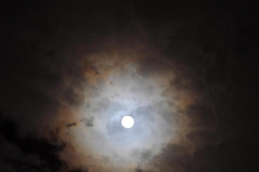 Moon Photograph - In Any Case The Moon by Jon Benson