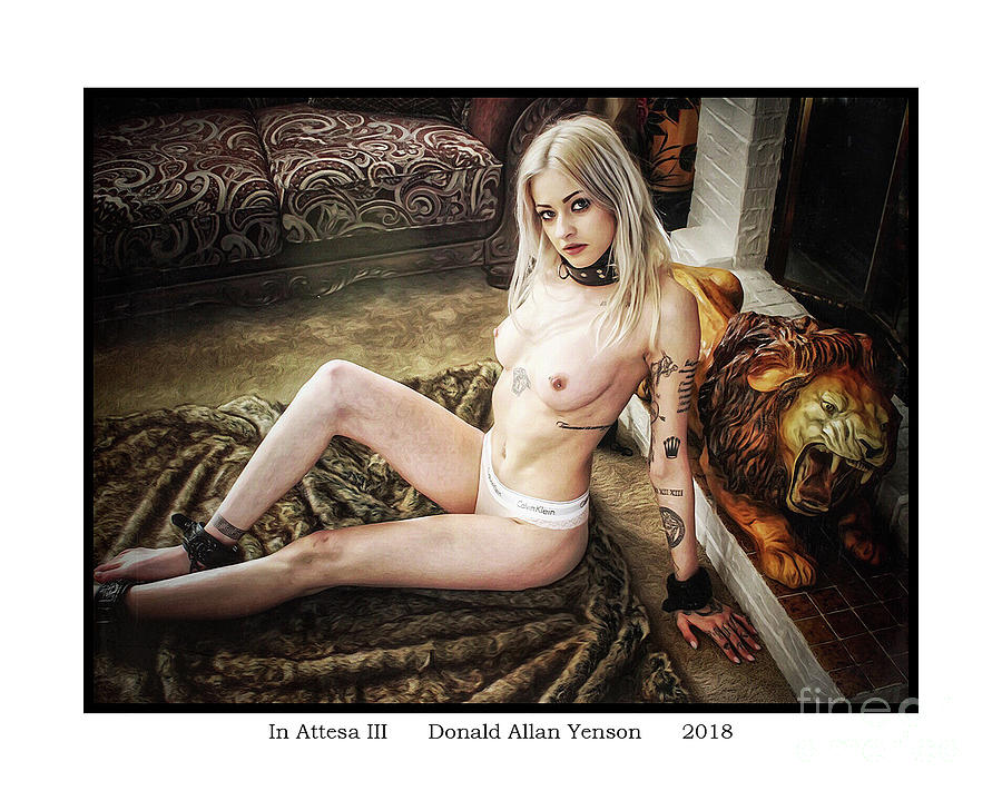 Pierced Photograph - In Attesa IIi by Donald Yenson