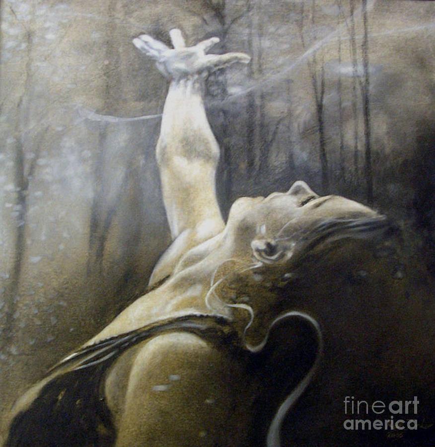 Spitfire Painting - In Awe by Riek  Jonker