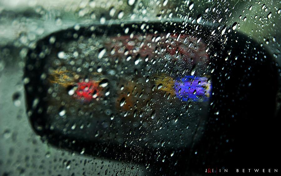 Sideview Mirror Photograph - In Between by Jonathan Ellis Keys