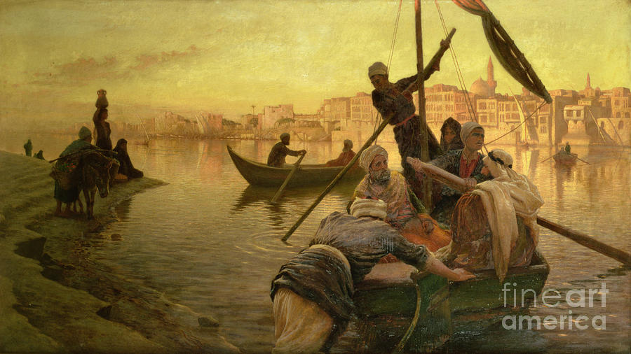 Cairo Painting - In Cairo by Joseph Farquharson
