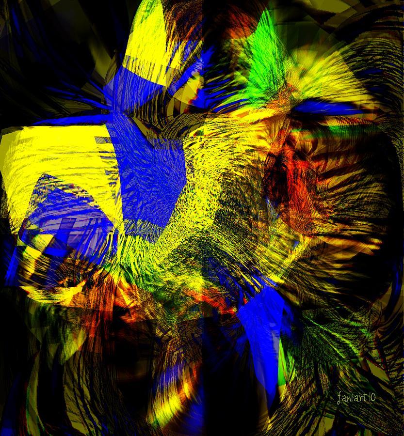 Fania Simon Digital Art - In Chaos - Yet Here Is My Praise by Fania Simon