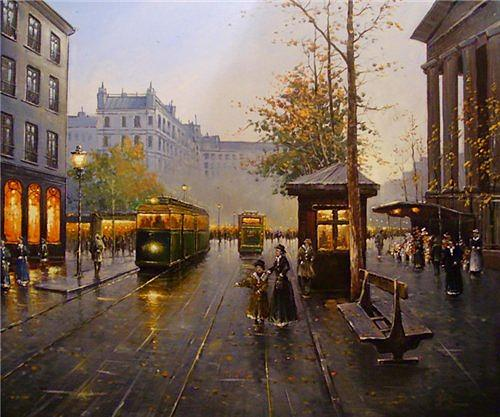 Painting Painting - In City by Alexander Fomin