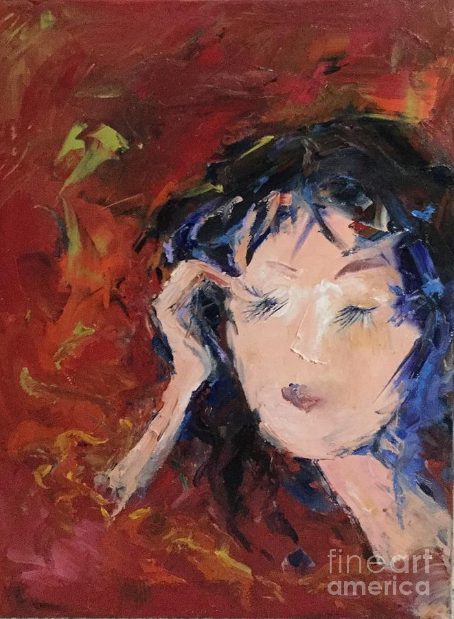 In Curly Thoughts Painting