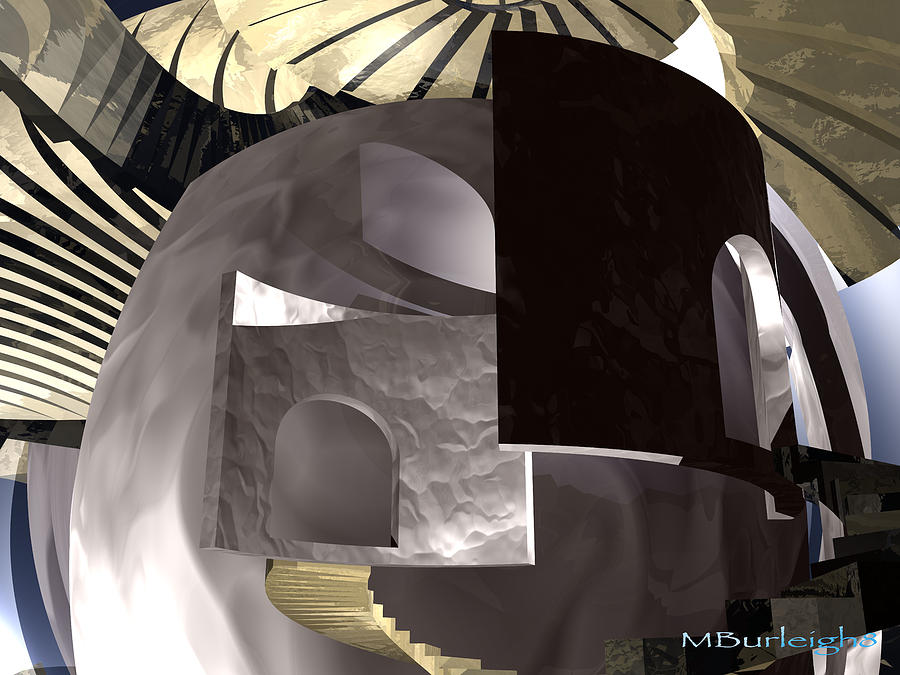 Abstract Digital Art - In Depth Hiding by Michael Burleigh
