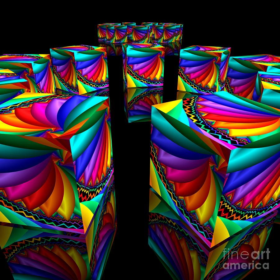 3d Digital Art - In Different Colors Thrown -3- by Issabild -