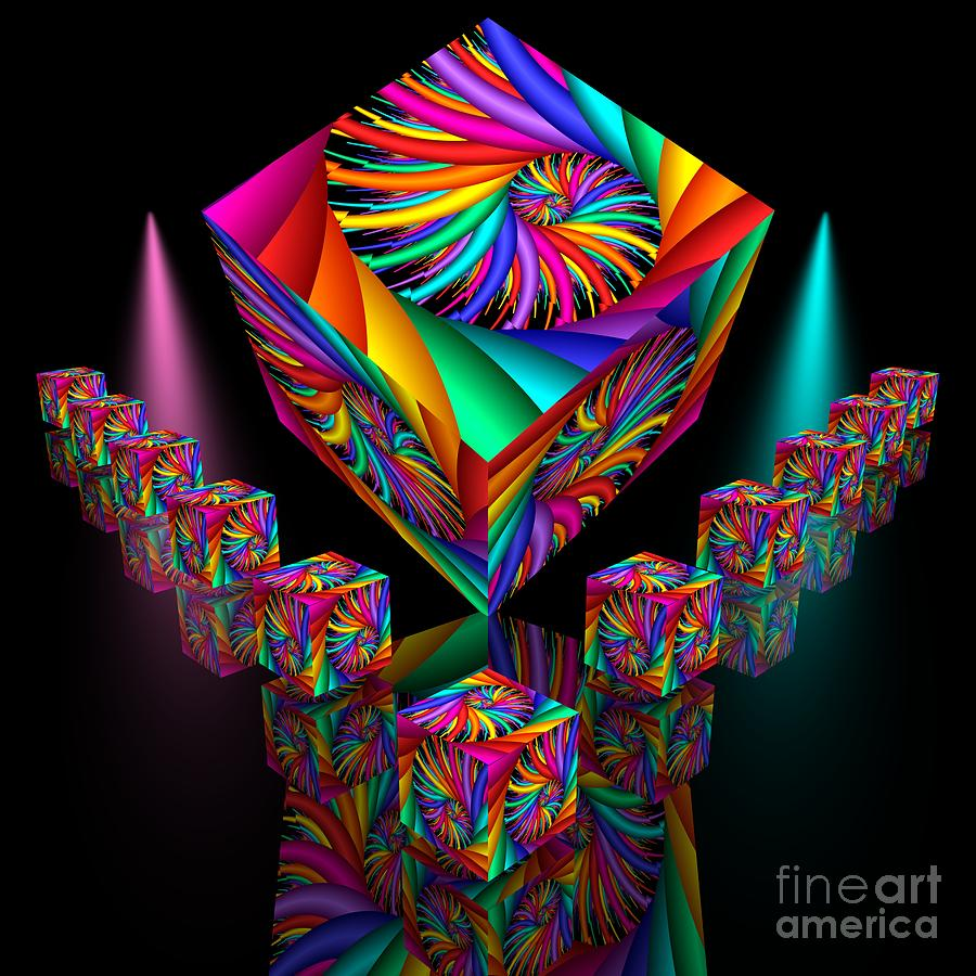 3d Digital Art - In Different Colours Thrown -6- by Issabild -