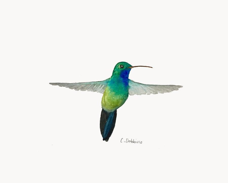 Hummingbird Painting - In Flight by Christiane Dobbins