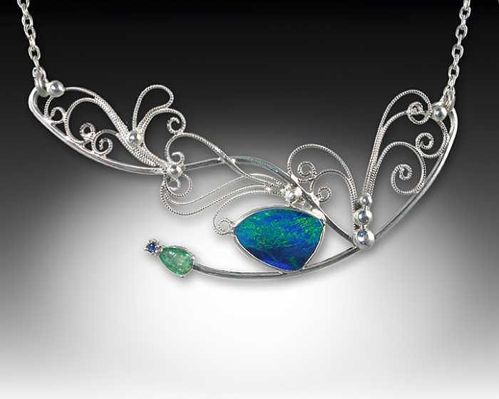 Handcrafted Jewelry - In Flight.... by Jeanne  Rhodes-Moen