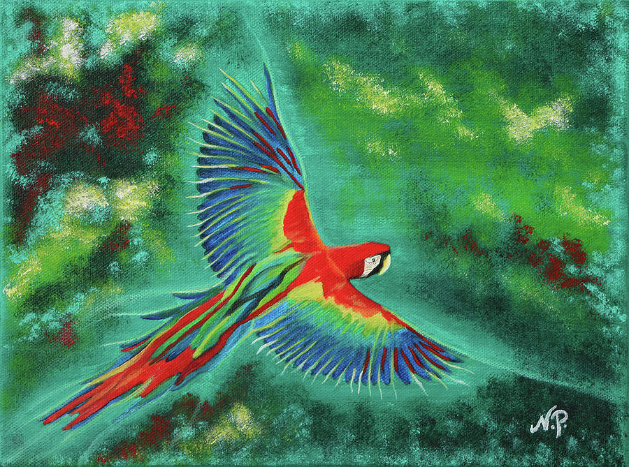 Nature Painting - In Flight by Nicole Paquette