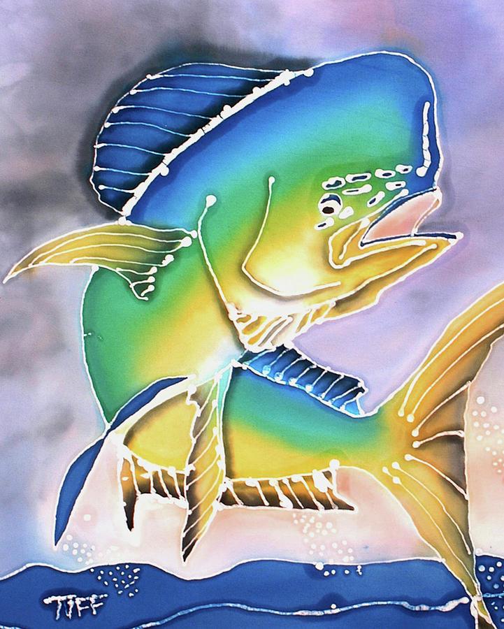 Mahi Mahi Painting - In Flight by Tiff