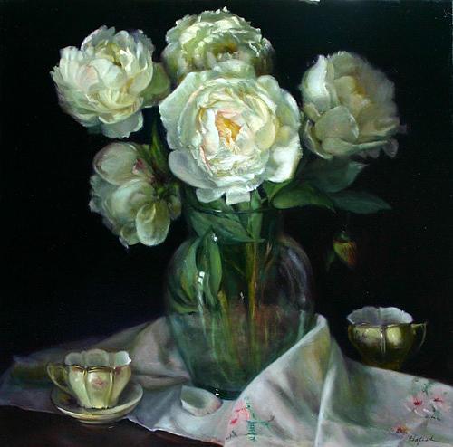 In Full Bloom Painting by Louise B Hafesh