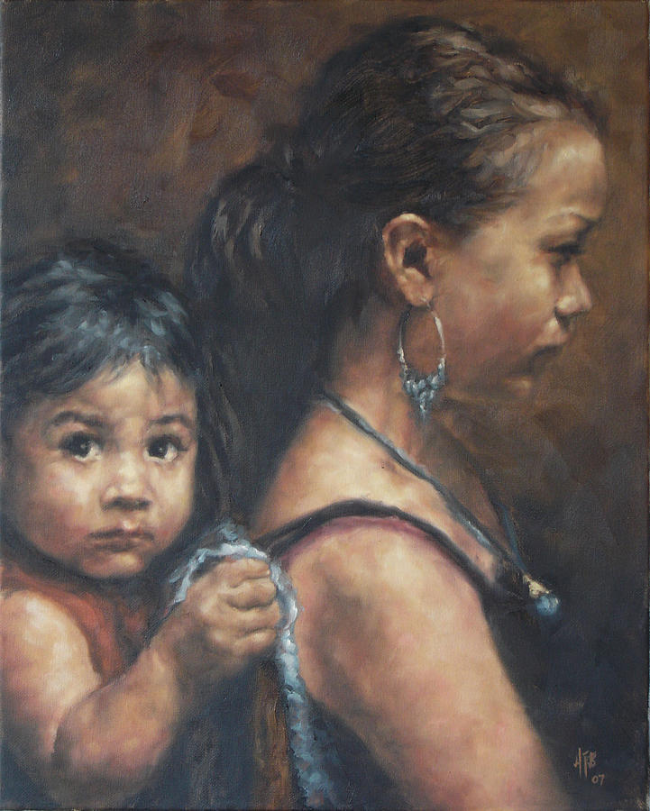 Portrait Painting - In Good Hands by Angela Baggett