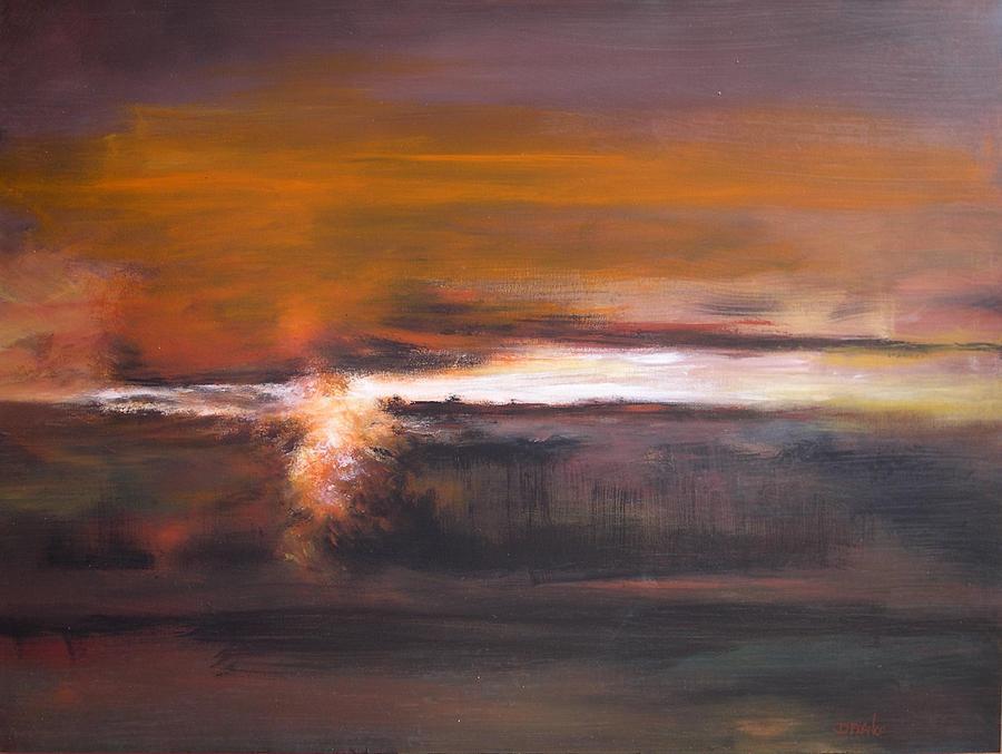Abstract Painting - In Grey 1 by DEVARAJ DanielFranco