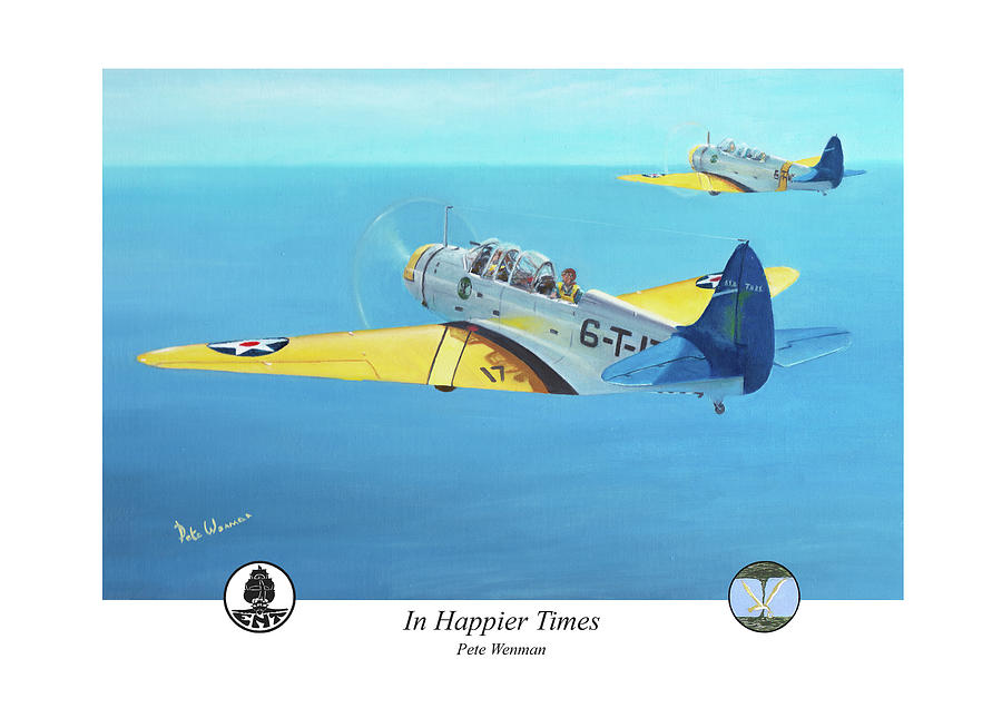 Naval Aviation Painting - In Happier Times by Pete Wenman