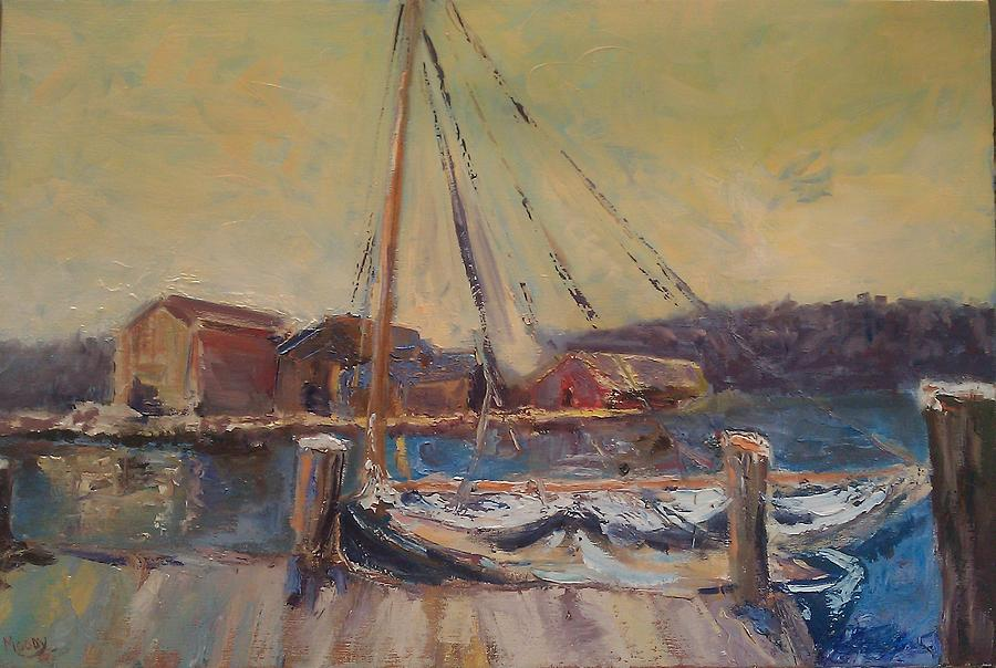 In Harbour Painting by Brent Moody