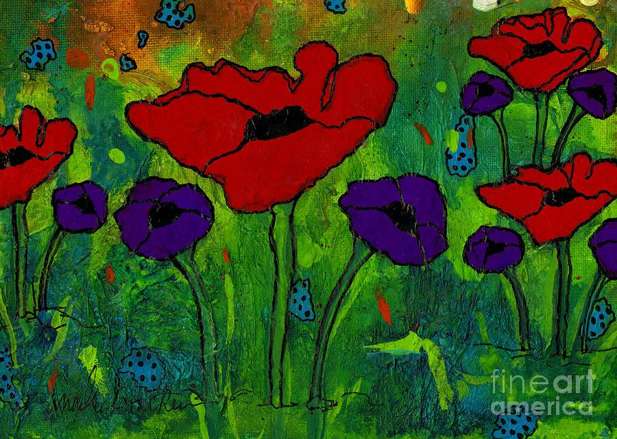 In Her Garden Mixed Media
