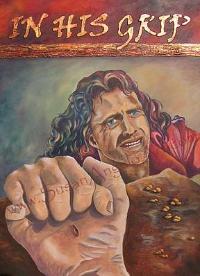 Figure Painting - In His Grip by Susan-Angelo  DeBay