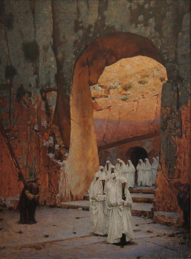 Religious Painting - In Jerusalem. Tsars Tombs by Vasily Vereshchagin