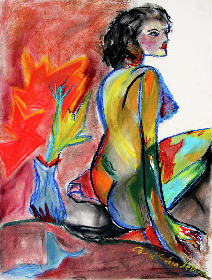 Woman Painting - In Living Color by Carol Schindelheim