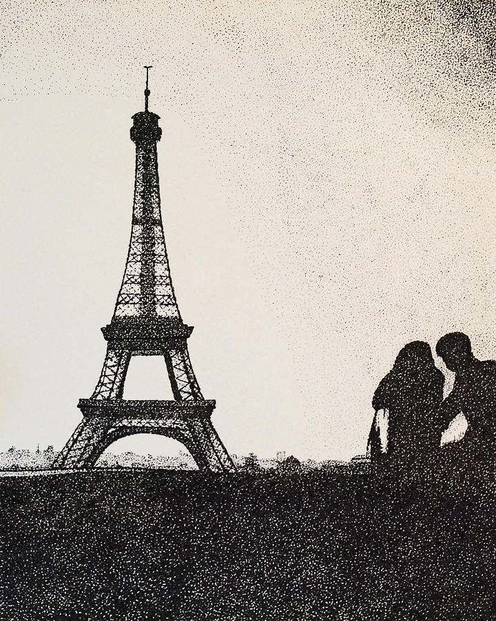 In Love Paris Painting By Saundra Smoker