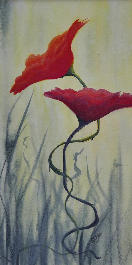 Floral Arrangements Painting - In Love by Lisa Gibson Art