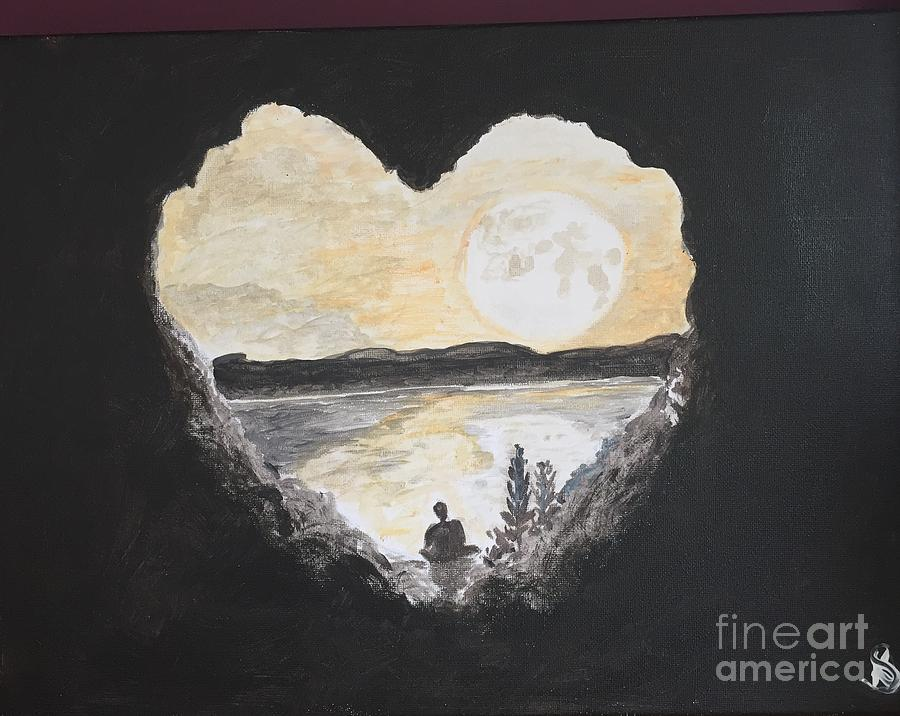 Medi Painting - In Love With Meditation  by Kimmi Sandhu