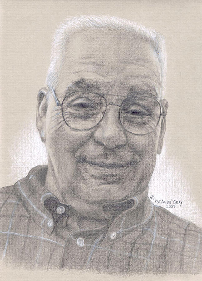 Portrait Drawing - In Memory of Giovanni  by Pat Aube Gray