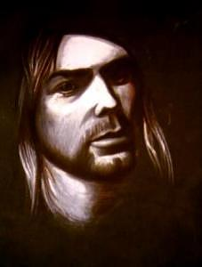In Memory Of Kurt Cobain Drawing by Kostadin Kostov