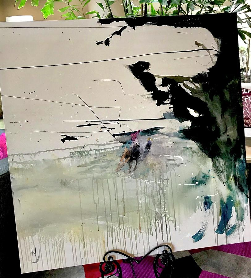 Abstract Painting - In Motion  by Heather Roddy