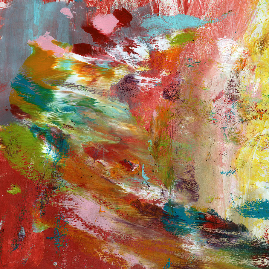 Abstract Painting - In My Dreams- Abstract Art by Linda Woods by Linda Woods