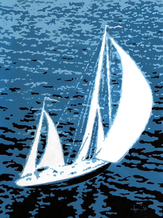 Sailing Painting - In My Dreams by Angela Treat Lyon