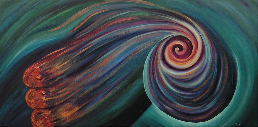 Spiral Painting - In My Dreams by Melissa Joyfully