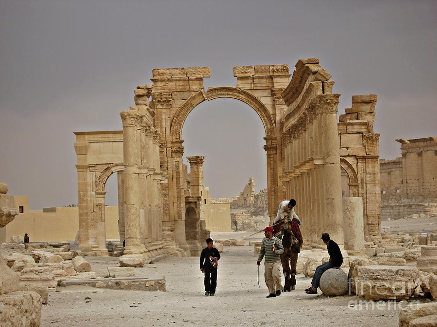 Syria Photograph - In Old Palmyra by Cendrine Marrouat