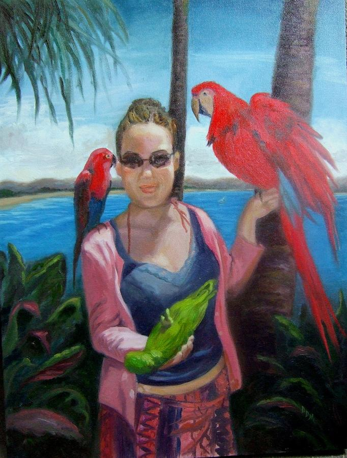 Paradise Painting - In Paradise by Darlene LeVasseur