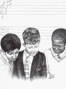 In Perfect Harmony Drawing by Charlene Cooper
